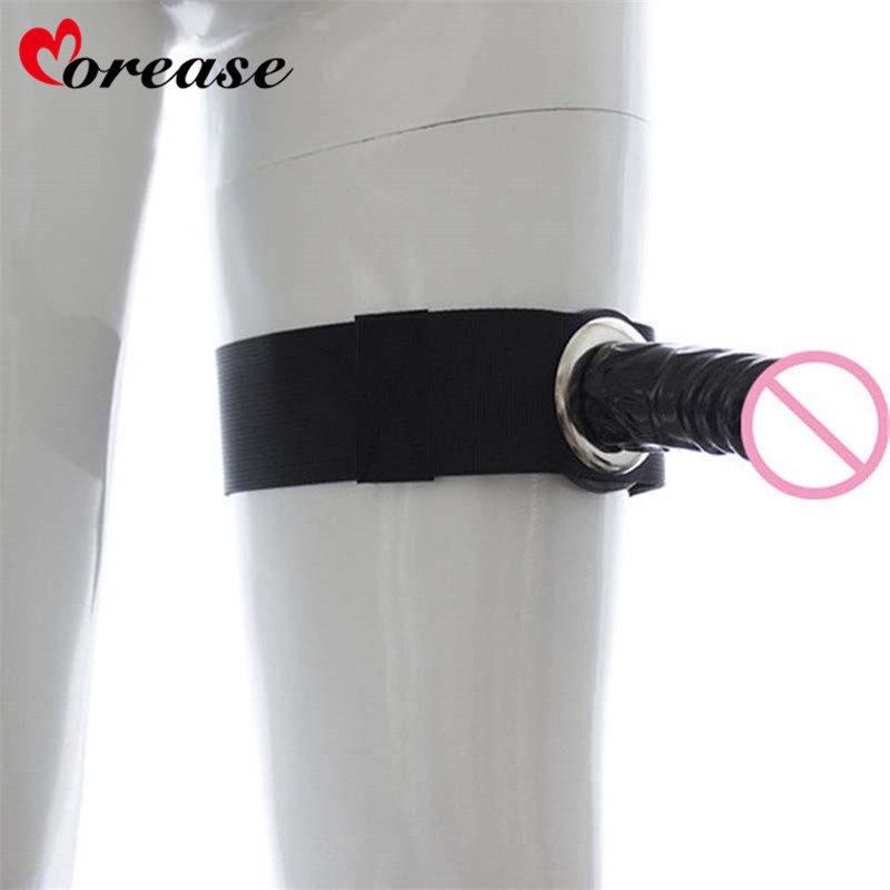 Morease Bondage Realistic Strapon silicone Dildo Leg Strap On Penis Belt Harness Sex Products Toys For Women Couple Sex Tools strap on dildo for man silicone hollow dildo strapon harness penis enlarger extender sex toys for man women
