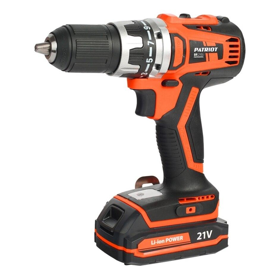 где купить Drill electric screwdriver rechargeable PATRIOT BR 210Li (2 speed, reversing, USB charging, case) по лучшей цене