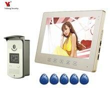 Yobang Security 10 Inch Video Doorbell Door Phone Intercom Camera Monitor Security System with 1 Camera 1 Monitor kit