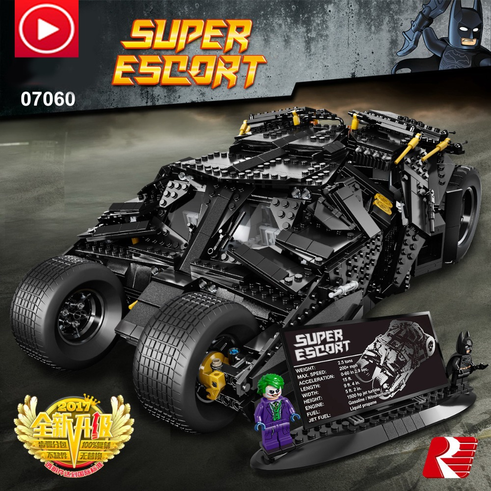 Technic movie super man Batman Chariot Motor Super Hero Model Race Car AFV Building Block Toy