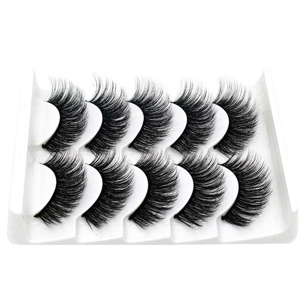 6 Pcs 3D Magnetic Eyelashes Soft Mink Lash Full Strip Natural False Eyelashe Eyelash Extension Handmade Wispy Fluffy Long Lashes