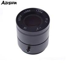 """Toptan CCTV CS lens 12mm 26.2 derece 1/3 """"F1.2 CCTV Sabit Iris IR Kızılötesi Için CS Dağı Lens güvenlik güvenlik kamerası"""