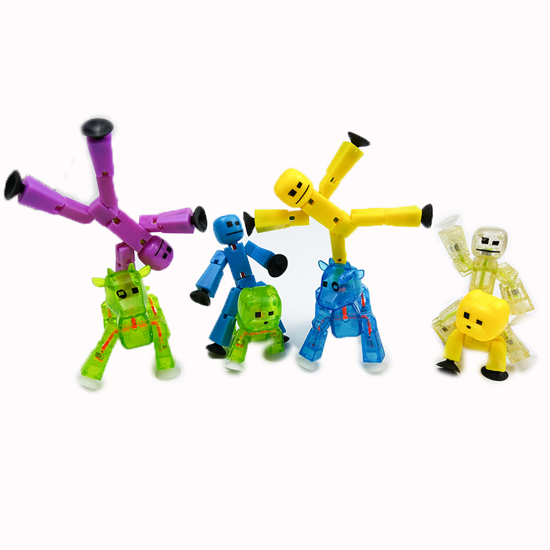 2pcs Sucker Kawaii Anima Figure In Action Figure Suction Cup Funny Deformable Sticky Robot Toys JY61 zxs sucker toys educational oogi figure 2pcs set bule