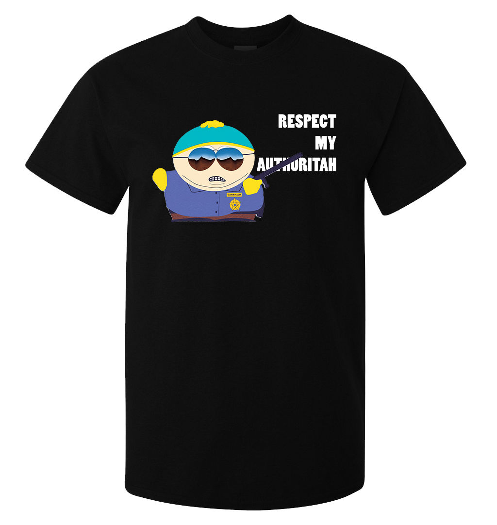 Scarface money power respect vinyl wall decal for home decore - 2017 Newest South Park Cartman Respect My Authoritah Funny Graphic Art 3d Printed T Shirt O