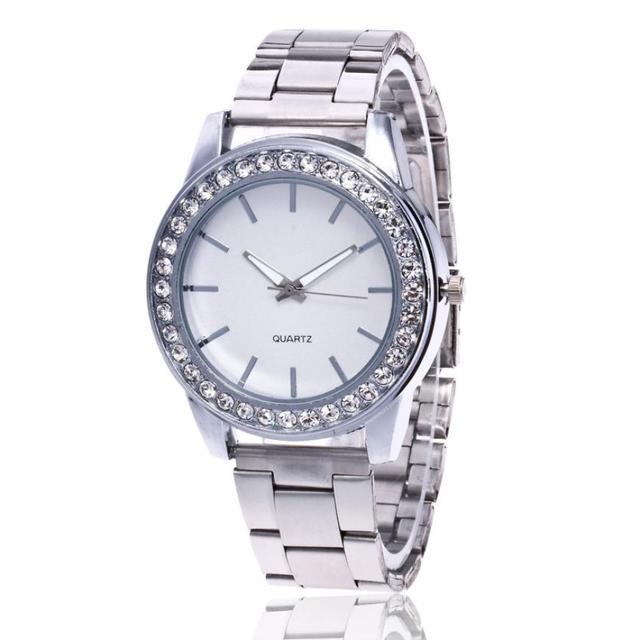 נירוסטה רוז זהב טמפרמנט 2018 גבירותיי אופנתיות שעון יפה פשוט מזכרות עסקי קוורץ שעון # D