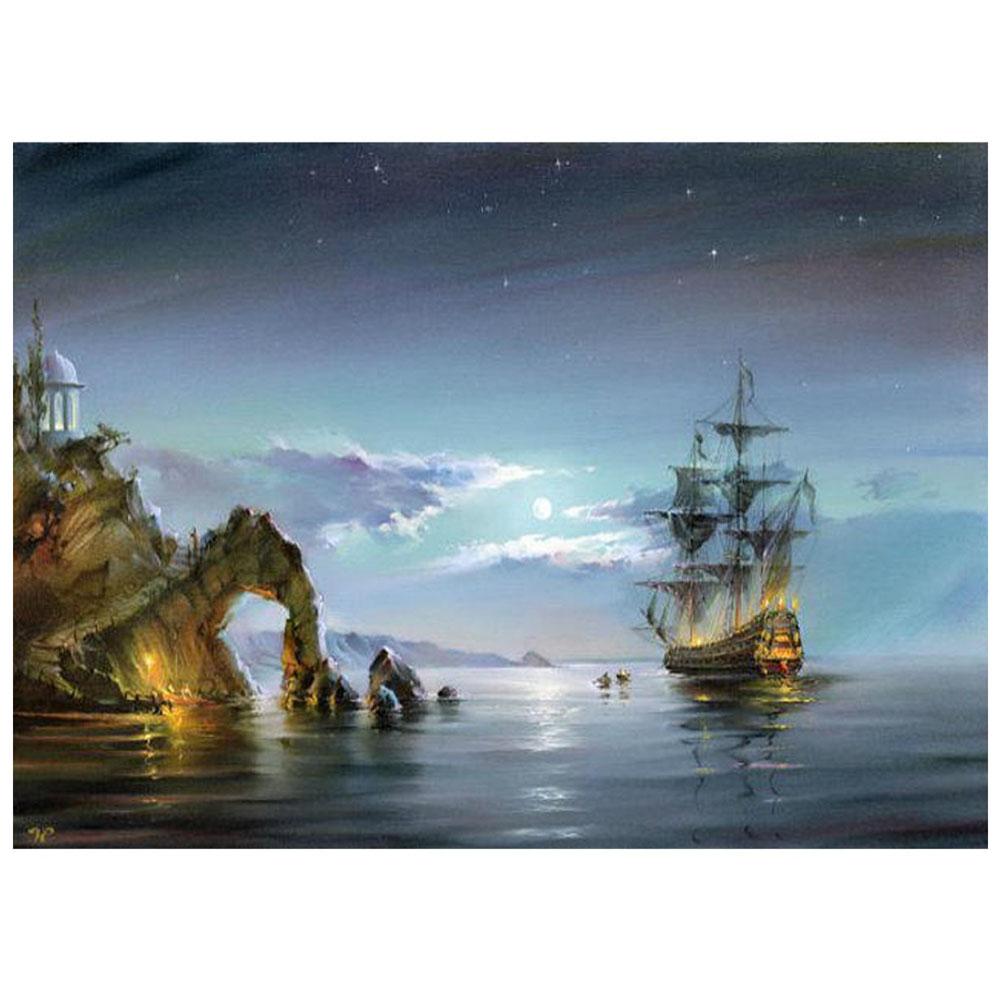 SDFC-16X20inch Paint By Number Kit DIY Digital Oil Acrylic Painting on Canvas Home Decor, Wonders of the sea