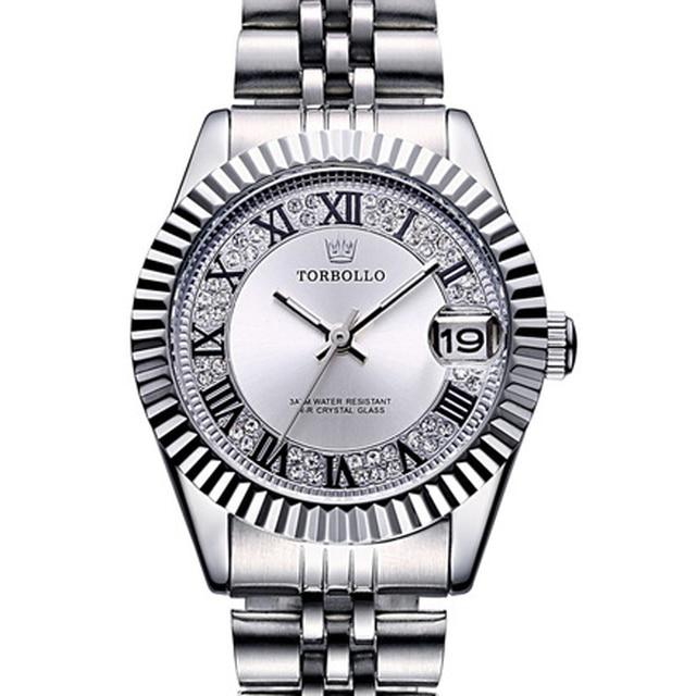 TORBOLLO Women Watches Luxury Brand Fashion Quartz Ladies Stainless Steel Bracel