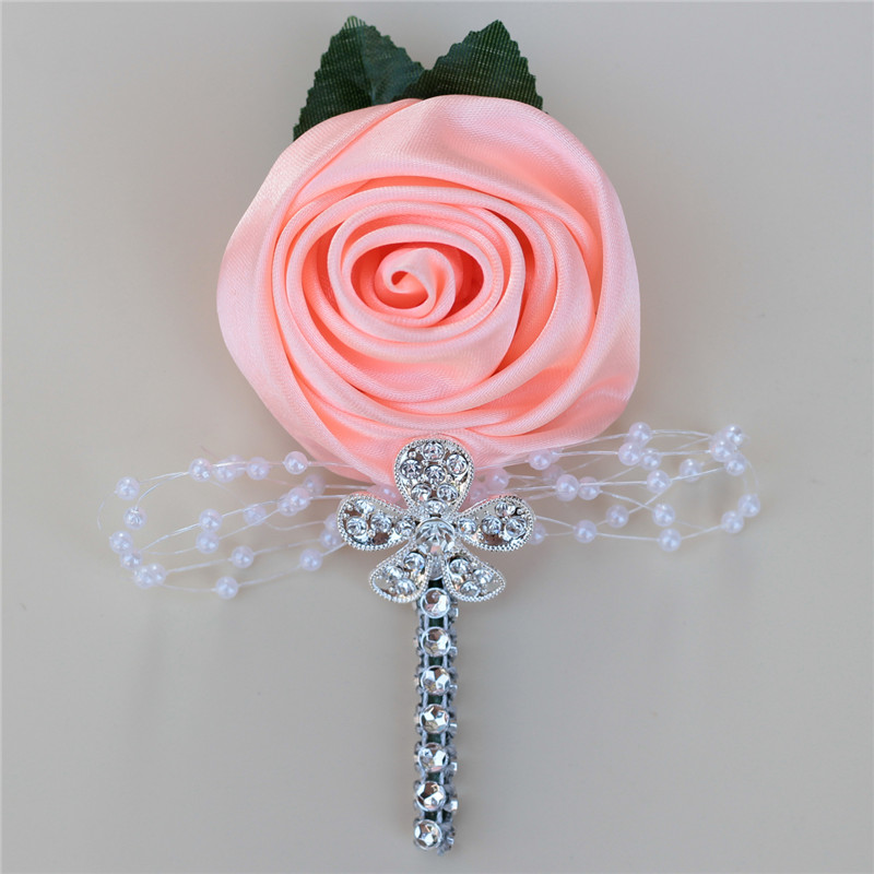 Wedding Corsages and Boutonnieres Groom Rose Boutonniere with Pin Best Men Groom Bride Flower Pin for Wedding Party XH0677Y