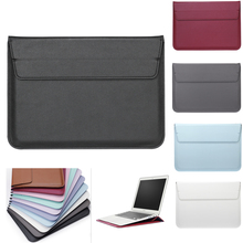 PU Leather Thin Laptop Cover Case For Apple mac Air 11 13 Pro 12 15 touch bar Sleeve macbook