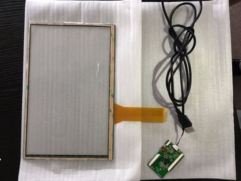High quality 228mmx148mm multi-touch capacitive touch screen digitizer glass panel with USB controller kit