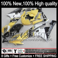 Bodys Yellow BlackBody For YAMAHA YZFR6 06 07 YZF 600 YZF R 6 YZF600 JK962 Yellow