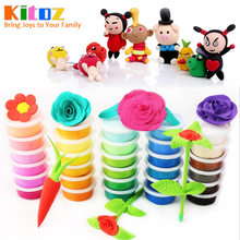 Slime Fluffy Lizun Polymer Clay Plasticine Suppliers Kit Soft Light Clay Putty for Modeling Playdough Play Dough Toy for kids(China)