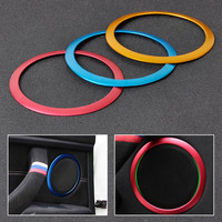 New 4Pcs Golden Interior Door Stereo Speaker Trim Cover Ring Set For BMW 3 Series F30