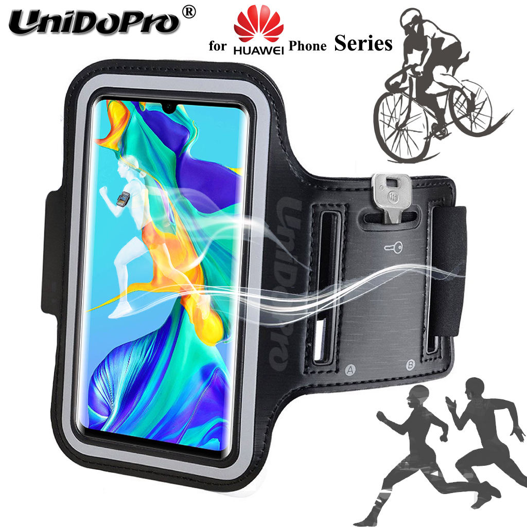 Phone Bag Case for Huawei P30 Pro P20 Lite Honor 20s V20 Mate 30 20 10 Nova Y Enjoy P Smart Running Arm Band PU Leather Cover(China)