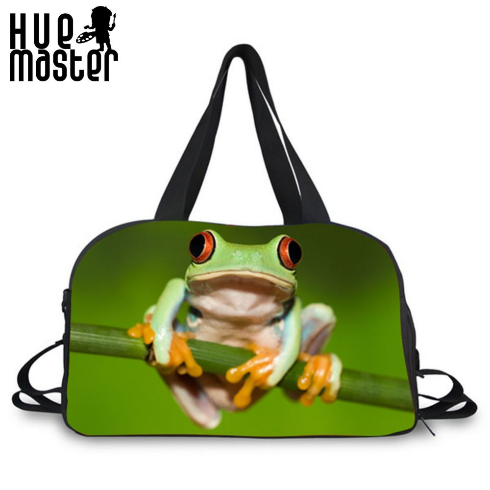 large capacity portable crossbody travel duffle bag frog animal pattern  school duffle bag leisure travel single shoulder handbag-in Top-Handle Bags  from ... 47811d80a4baf