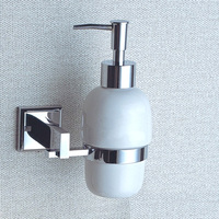 CLOUD POWER Chrome Liquid Soap Dispenser And Holder With Brass Copper Bathroom Shower Soap For Free