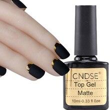 MDSKL 10ML Matte Top Coat Nail Gel Polish Nail Art Matte Top Coat LED UV Nails Gel Lacquer Long Lasting Matt Top Gel