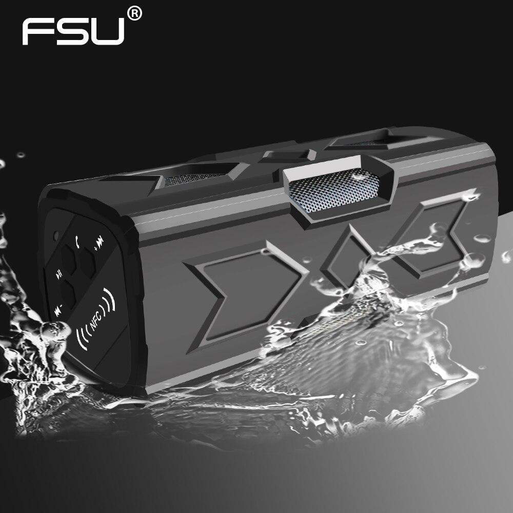 FSU 4.0 防水ワイヤレス Bluetooth ステレオスピーカーサウンドボックスハンドフリー NFC 電話電源銀行 1800 mah Bluetooth スピーカー  グループ上の 家電製品 からの ワイヤレスアダプタ の中 1