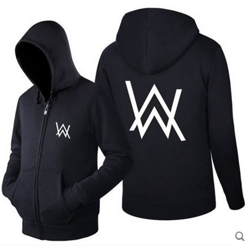DJ Faded Hoodie Alan Walker Clothes Hoodie Sweatshirt Top Cropped Hat Mouth Mask Cap Visor Zipper Clothes Cosplay Costumes