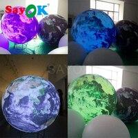 1 м надувной земной шар пляжный шар светильник из пвх воздушный шар надувной метание Zygote мяч Вечерние