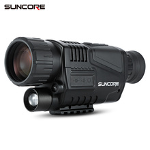 2018 SUNCORE 5X40 Night Vision Monocular With 200M Infrared Camera Function For Hunting Home Security Telescope viewing mirror 5x40 bak4 prism infrared night vision monocular camera