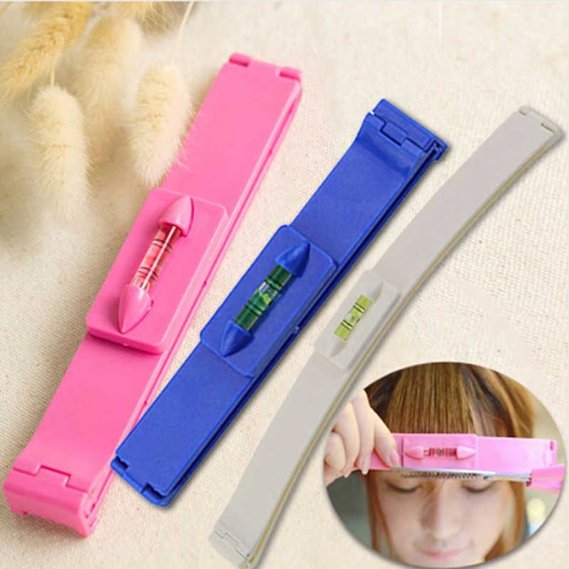 DIY Women Hair Trimmer Fringe Cut Tool Clipper Comb Guide For Cute Hair Bang Level Ruler Hair Accessories