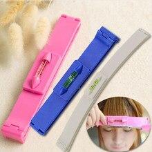 Diy aparador de cabelo feminino franja corte ferramenta clipper pente guia para o cabelo bonito bang nível régua acessórios para o cabelo