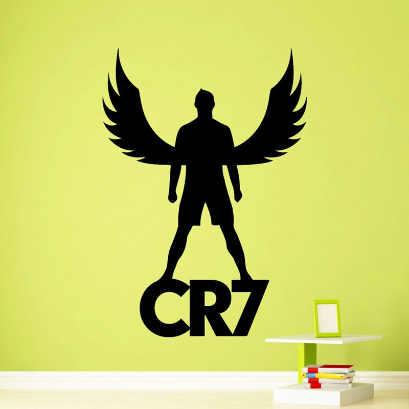 Cristiano Ronaldo Football Player Sticker Sports Soccer Decal Helmets Kids Room Name Pos ...