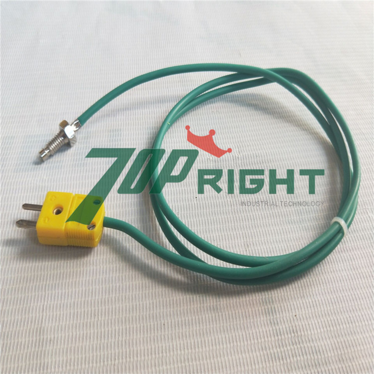 M6 screw head K type thermocouple with K type connector