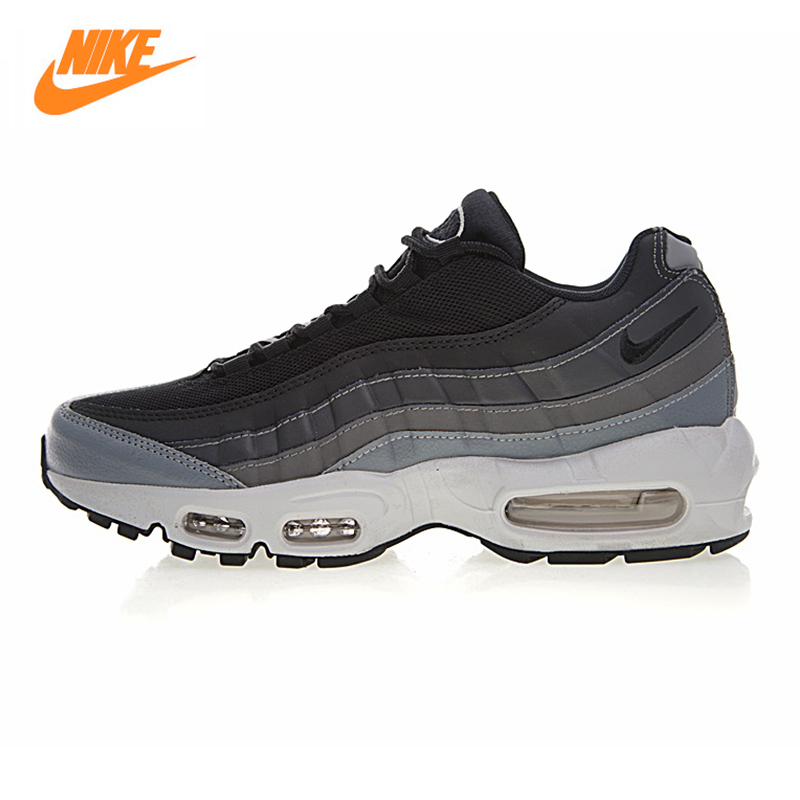 NIKE AIR MAX 95 ESSENTIAL Men's Running Shoes, White & Grey,