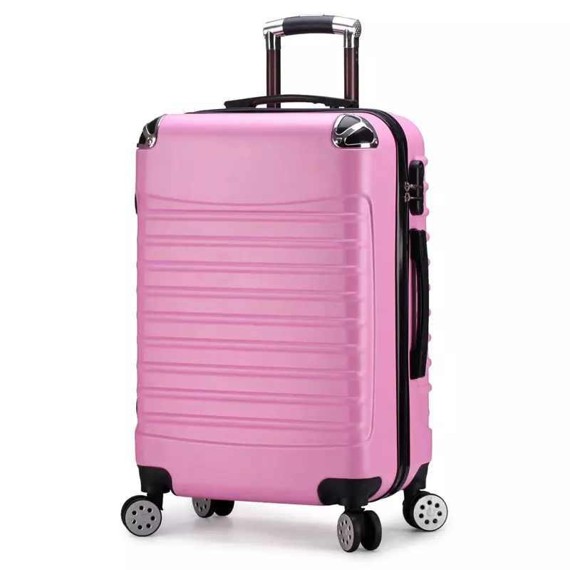 Maleta de viaje de 20 pulgadas y 24 pulgadas ABS con ruedas, cubierta de carrito para mujer, maleta de mano con ruedas giratoria para hombre