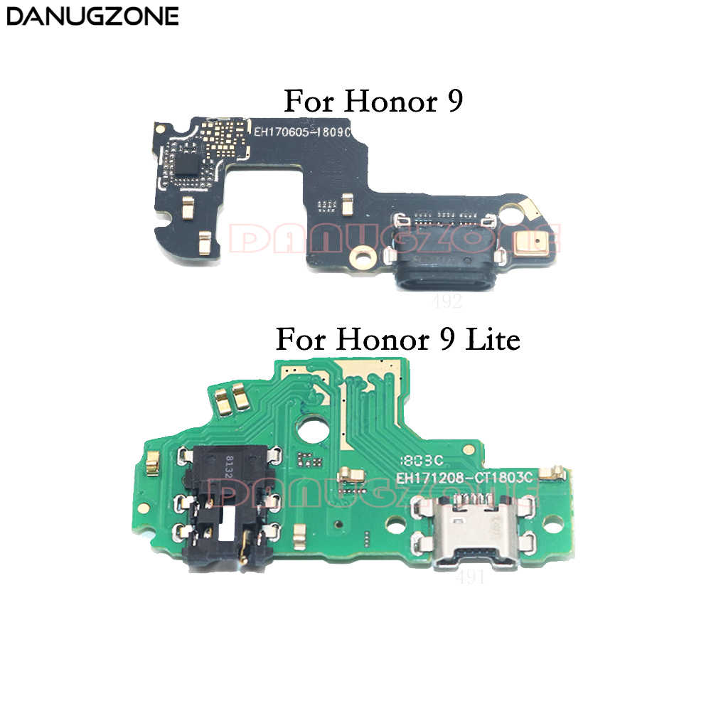 USB Charging Port Dock Plug Jack Connector Charge Board Flex Cable With  Microphone For Huawei Honor 9 Lite Honor9