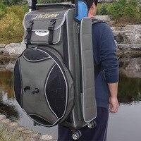 Große kapazität angeln tasche doppel schulter harte verdickt angeln getriebe tasche multi funktionale Europäischen fischerei stuhl tasche stange|Angeltaschen|   -