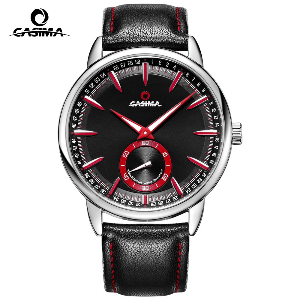 CASIMA Luxury Brand Military Watch Men Waterproof 100m Quartz Sports Wrist Watch Casual Genuine Leather Strap Sport Men's Watch