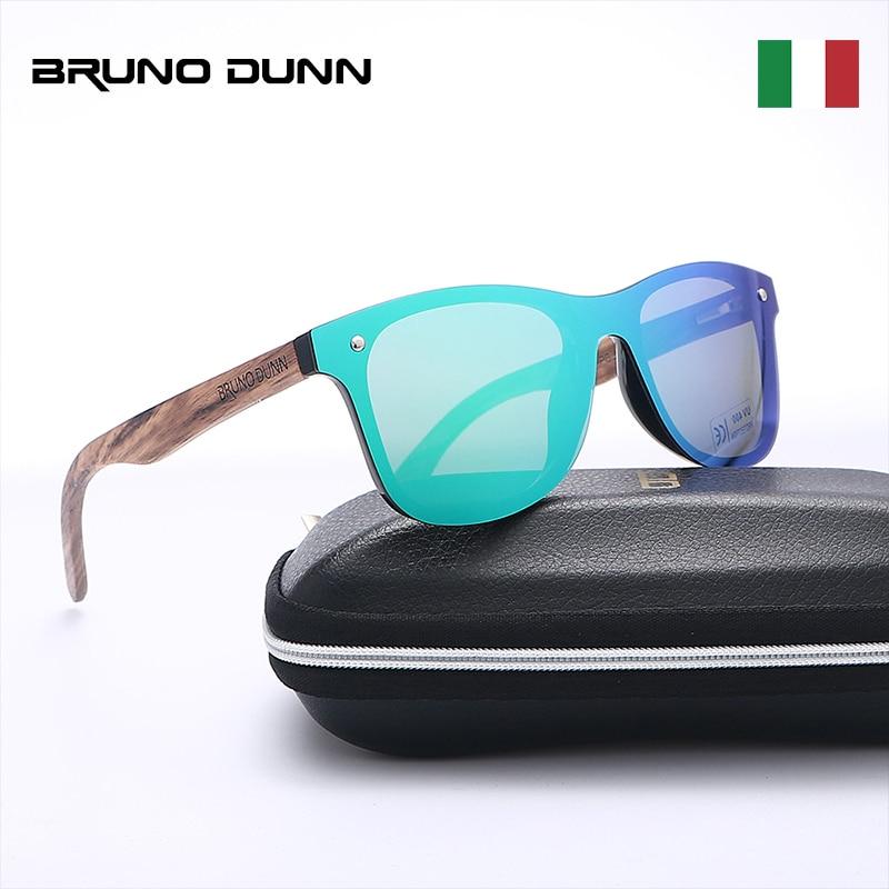 Bruno Dunn Wood Sunglasses Women Men Polarized Brand Design Sunglases Ray oculos de sol feminino masculino lunette soleil femme