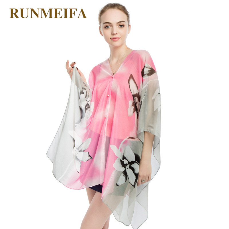 Apparel Accessories Temperate Runmeifa Beach Shawl Fashion Women Swimwear Beach Cover Up Sheer Swimsuit Femme Pareo Beach Wear Summer Pareo Drop Shipping To Enjoy High Reputation At Home And Abroad