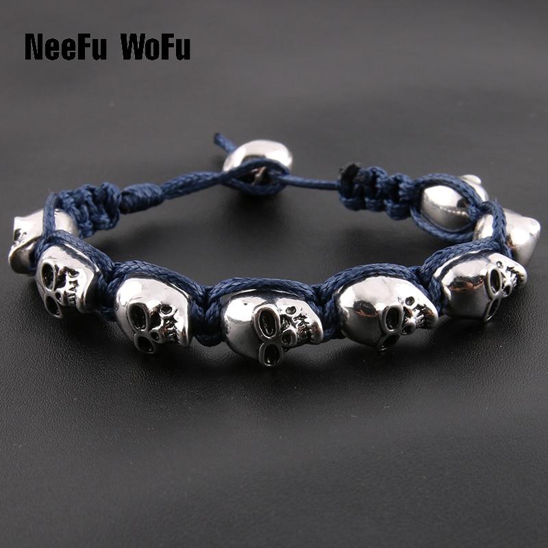 Bracelets Men New Skull Hand Hand-woven Personality Fashion Boutique For-Pandora Bracelet Jewelry