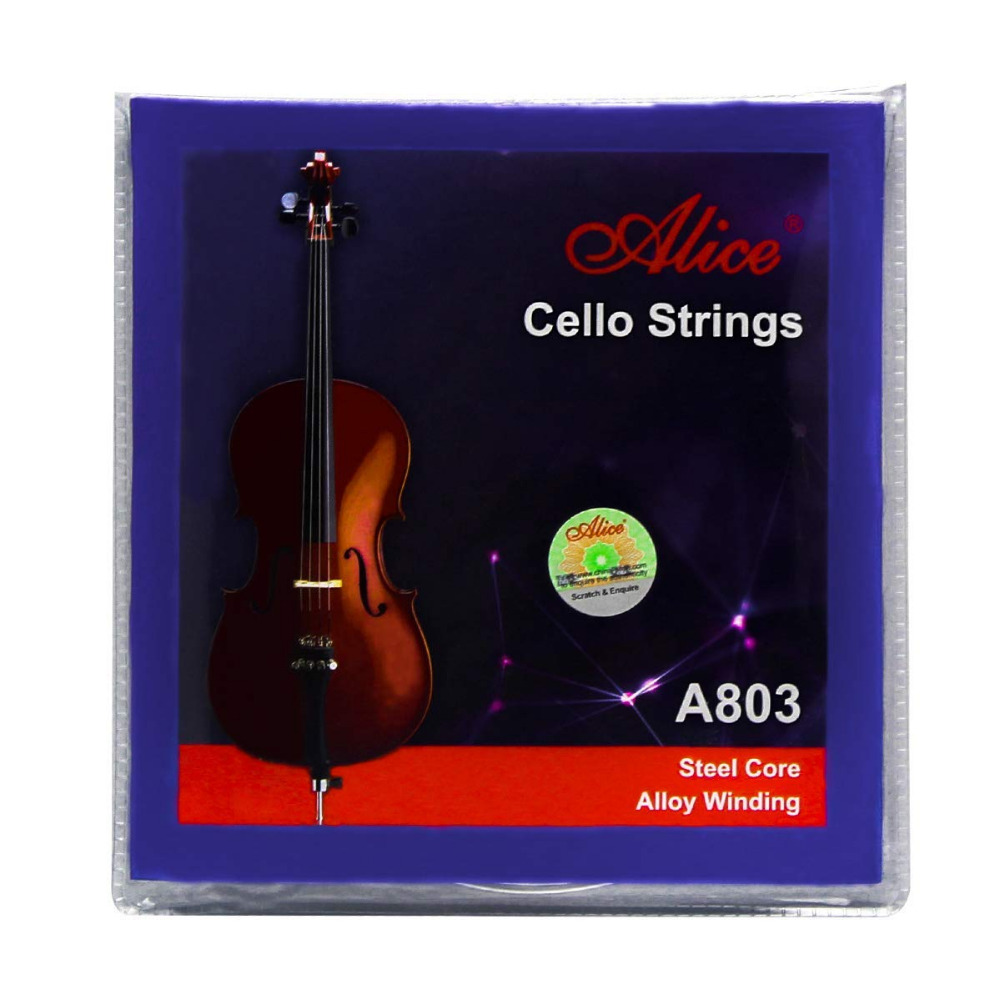 10 Sets Alice A803 Steel Core Nickel Silver Wound Cello Strings