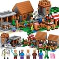 1106 unids minecraft bloque de construcción de mi pueblo mi mundo aficiones juguetes modelo de construcción de ladrillo de juguete de regalo para niños