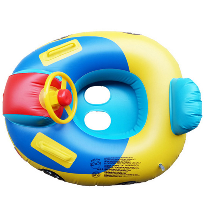 Steering Wheel Swimmer Child Inflatable Ring Float Seat Boat Water Fun Baby Ring Swim Pool Inflatable Swimming Safe Raft
