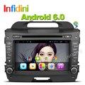 Чистая Android 6.0 quad core dvd-плеер Автомобиля для KIA sportage r/Sportage 2010 2014 2011 2012 2013 2015 радио BT автомобильный gps dvd-плеер