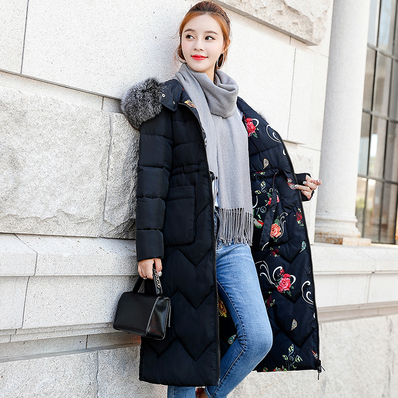 Both Two Sides Can Be Wore 2019 Women Winter Jacket New Arrival With Fur Hooded Long