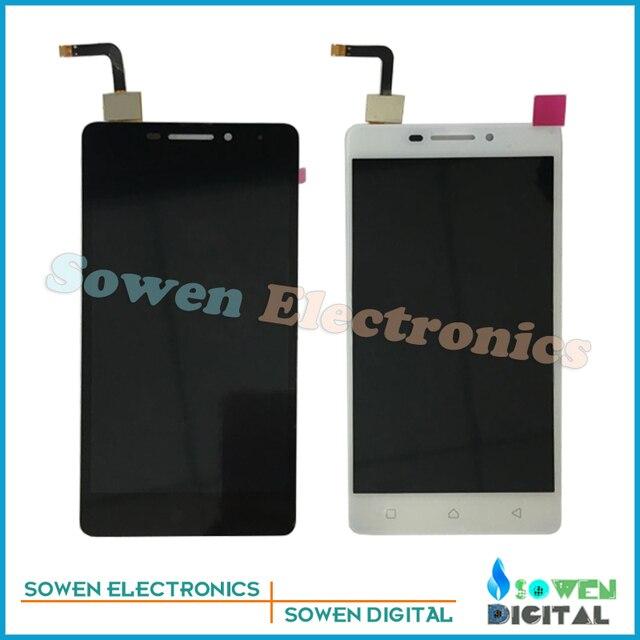 Para lenovo vibe p1m p1ma40 p1mc50 td-lte display lcd com tela de toque digitador montagem conjuntos completos, preto ou branco