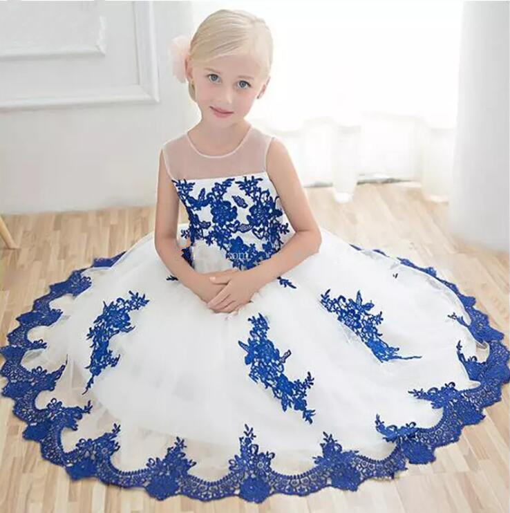 2017 High Quality Custom Made Flower Girls Dresses Little Girl Ball Gown Organza Girls First Communion Dress Free Shipping custom make little girls party dresses one shoulder lace hand made flowers tiered organza tiered ball gown little girls dress