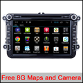 "8""CAR DVD GPS navi 1024x600 Android 6.0 for VW golf 5 6 touran passat B6 sharan jetta caddy Tiguan EOS Radio GPS navi map camera"