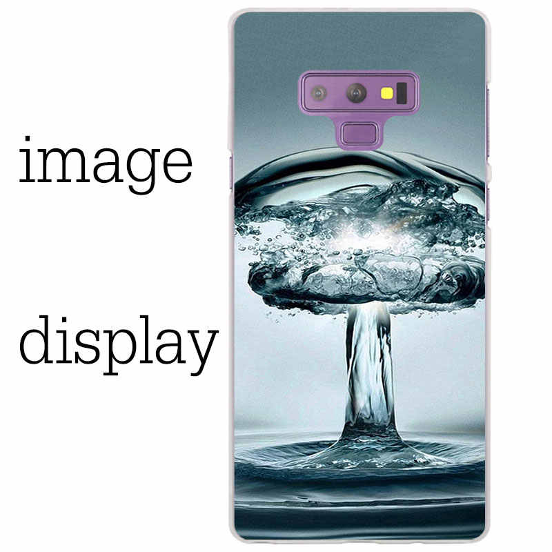 Капли воды цветок Прозрачный чехол для samsung Galaxy Note 9 8 5 4 A6 A7 A8 A9 J3 J4 J6 J7 J8 2018 S10 lite plus чехол