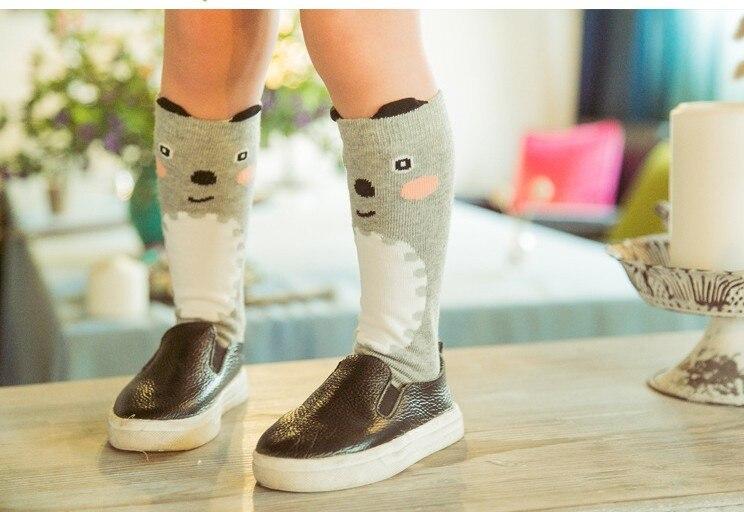 2016-Autumn-Winter-Hot-Cute-Kids-Fox-Socks-Totoro-Socks-Bear-Pancake-Cartoon-Girls-Knee-High-Socks-baby-Long-Socks-3
