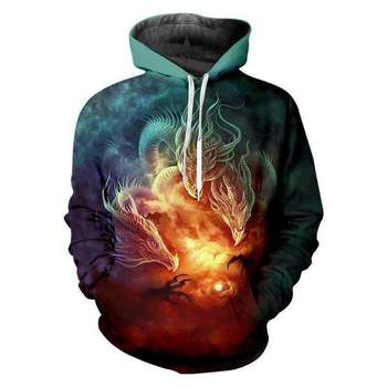 3D Hoodies Men Fashion New 3d Print Skull Hoodie Plus Size Spring Fashion Hip Hop Wears Men Streetwear