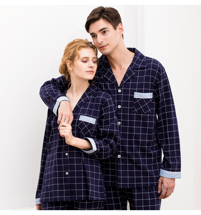 728a58d943 COSWE New 100% Cotton Pajama Sets Men Winter Pijamas Masculinos Casual  Homme Pajamas Suit Male Sleepwear Set With Long Pants