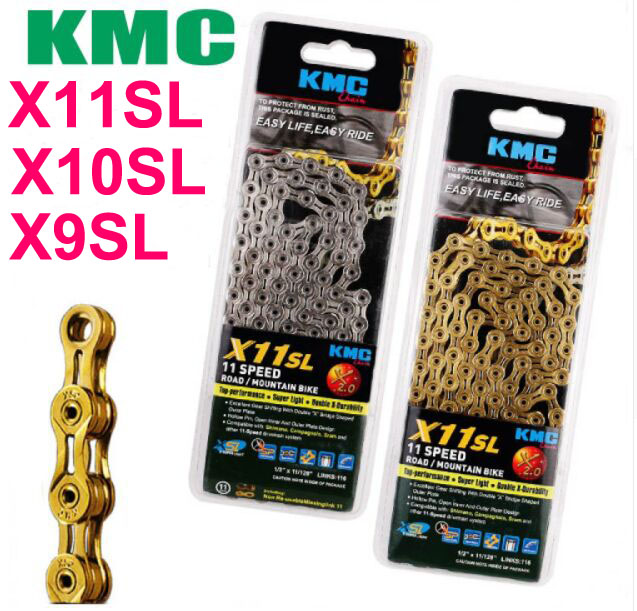 KMC Bike Chain X11SL X10SL X9SL Bicycle Chain KMC 11V 10s Speed Mountain Road/MTB Crankset X9 X10 X11 cycling corrente parts 50ml mtb cycling bicycle chain special lube lubricat oil cleaner repair grease bike lubrication